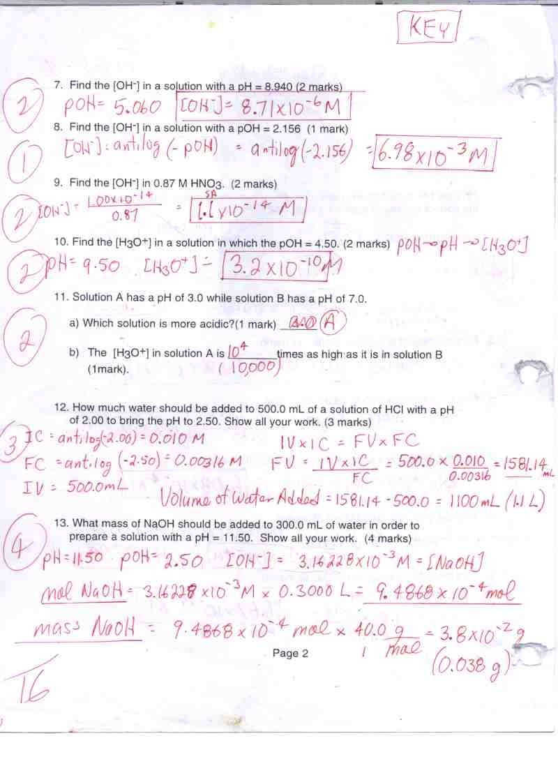 Acidbase  Ms Beaucage Or Acids Bases And Ph Worksheet Answers