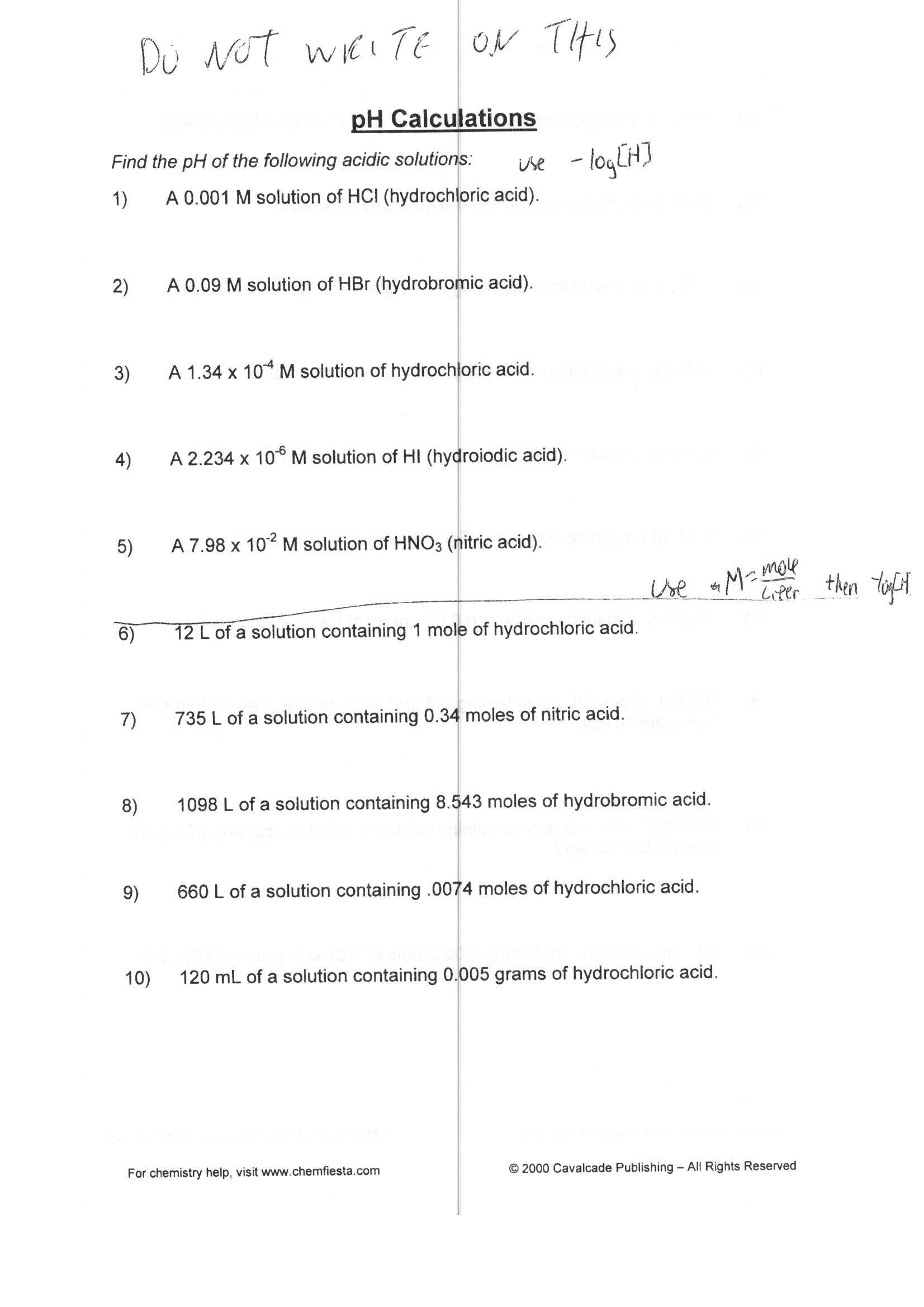 Ph Worksheet Answer Key — excelguider.com