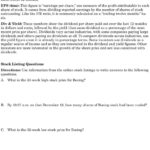 Activity 41 Reading A Stock Table  Pdf Throughout Reading A Stock Table Worksheet Answers