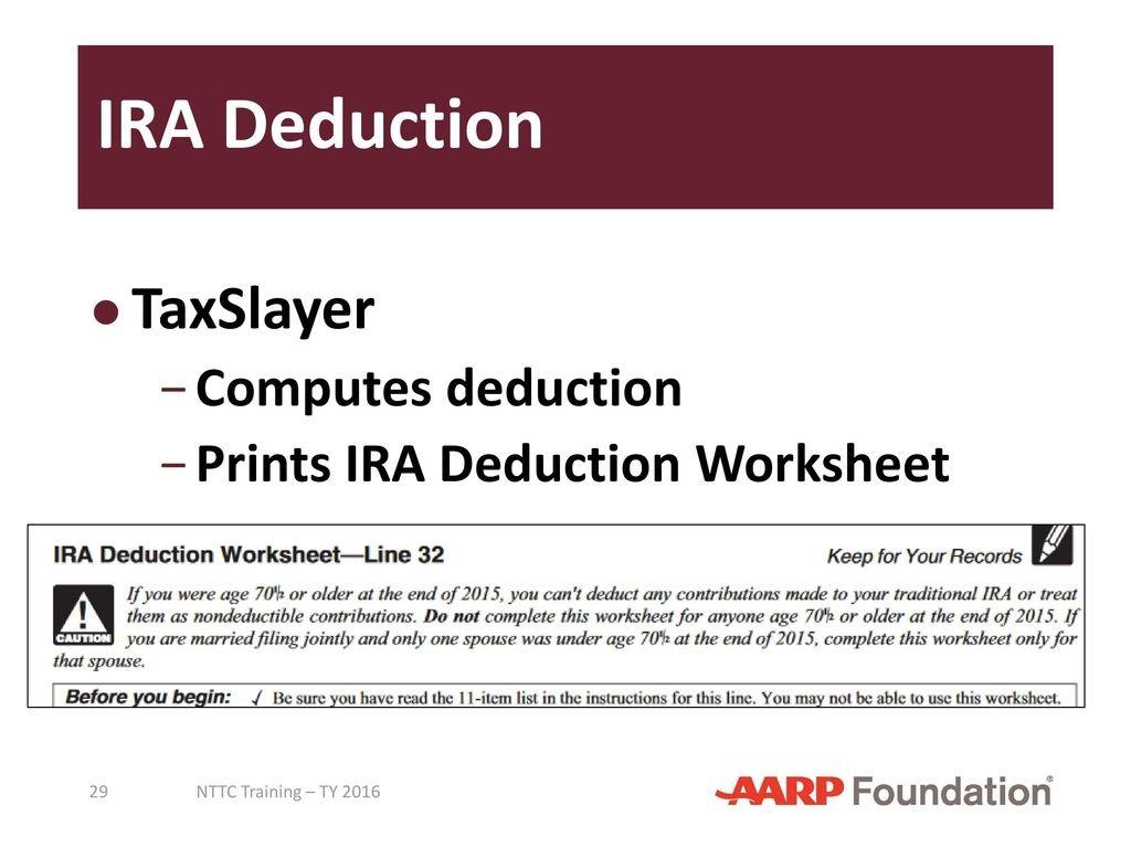 Adjustments To Income Pub 4491 – Lesson 18 Pub 4012 – Tab E  Ppt Regarding Ira Deduction Worksheet 2016