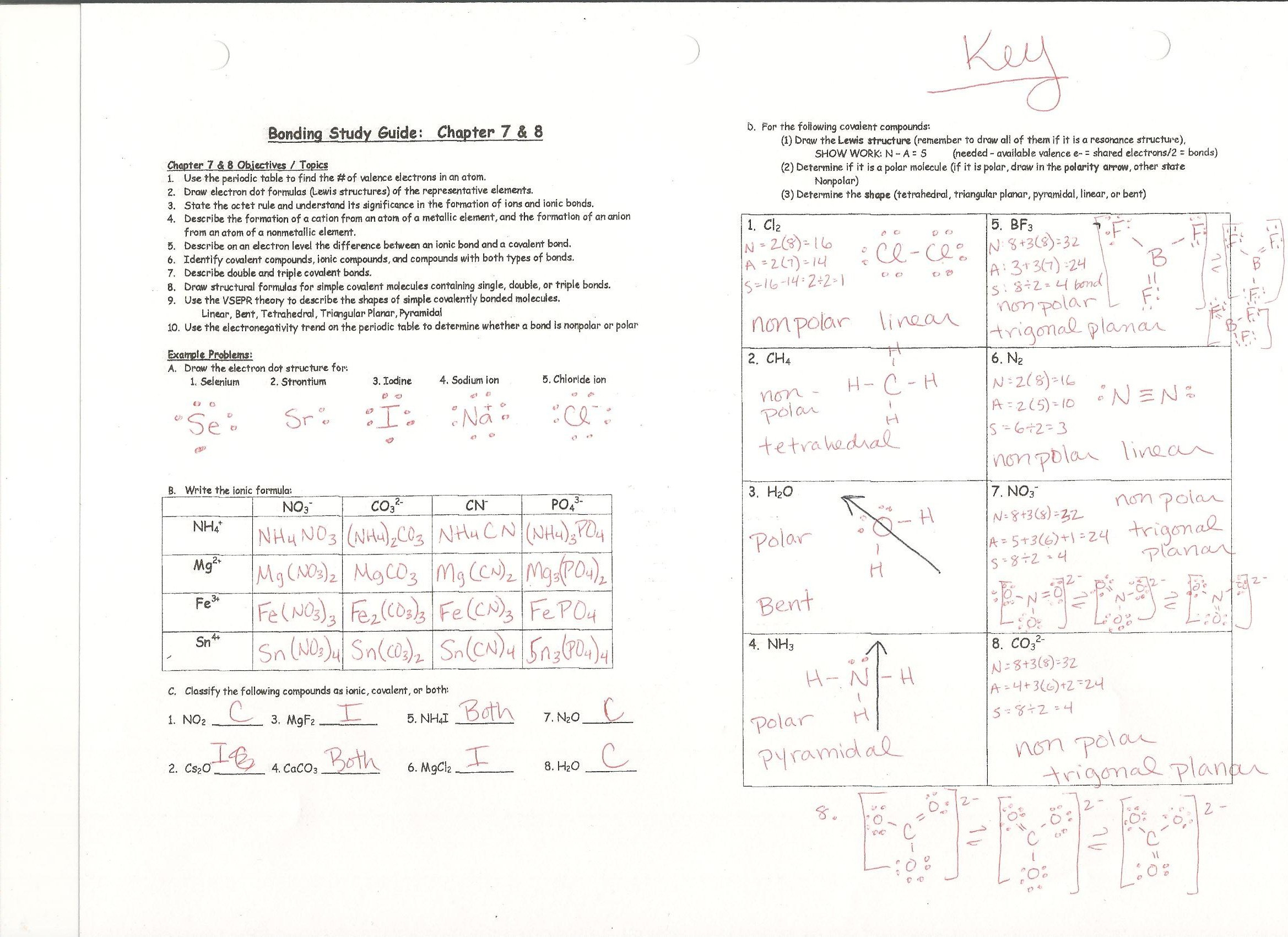 Chemistry Unit 6 Worksheet 1 Answer Key — excelguider.com