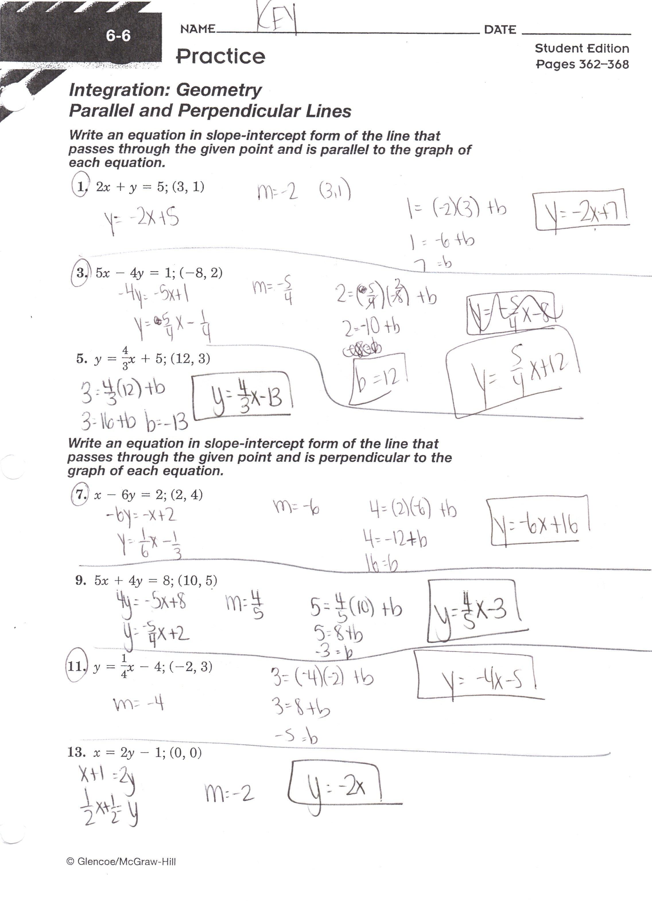 Algebra Ihonors  Mrs Jenee Blanco Go Mustangs Within Equations Of Lines Worksheet Answer Key