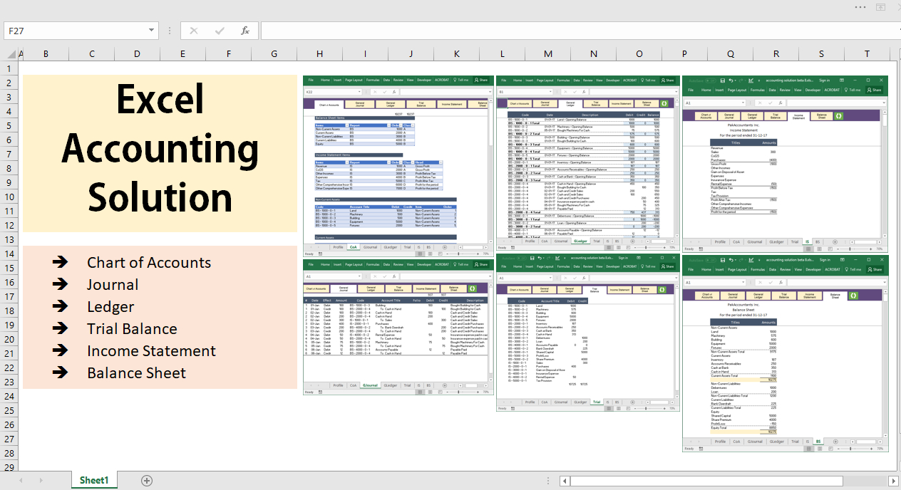 All Excel Accounting And Bookkeeping Solution   Template ... Within Bookkeeping Excel Templates