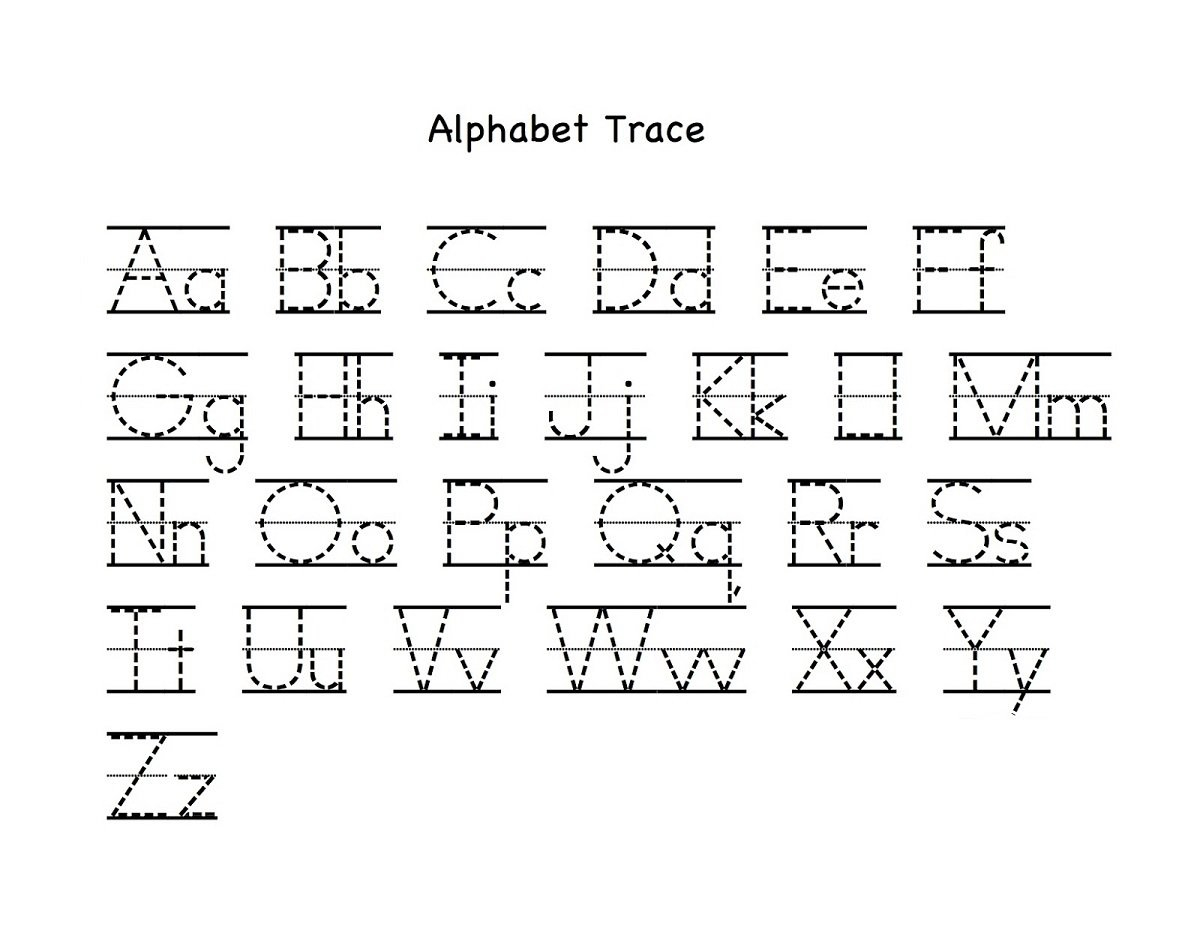 Alphabet Letter Tracing Printables  Activity Shelter For Alphabet Tracing Worksheets For 3 Year Olds