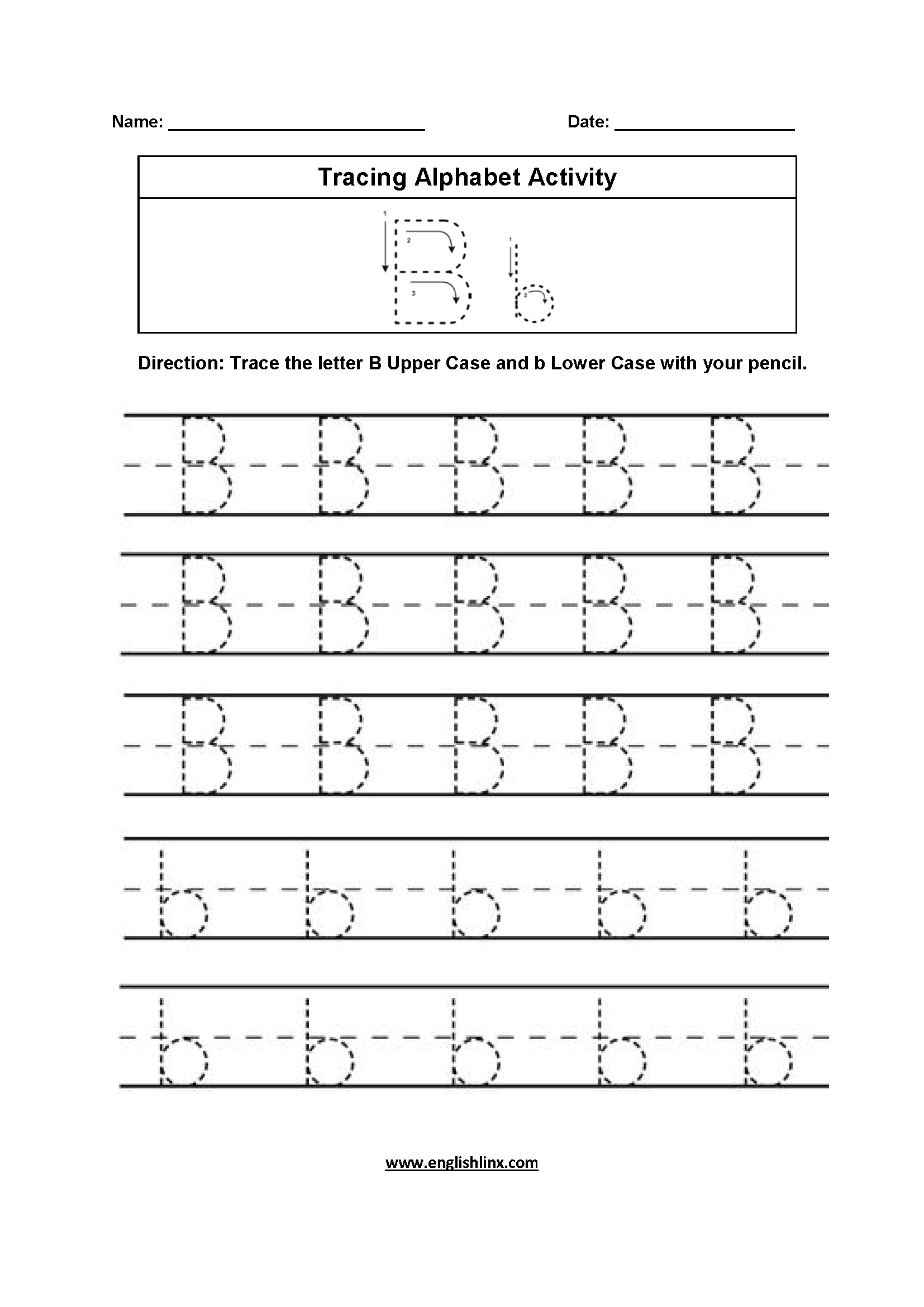 Alphabet Worksheets  Tracing Alphabet Worksheets Throughout Alphabet Tracing Worksheets Pdf