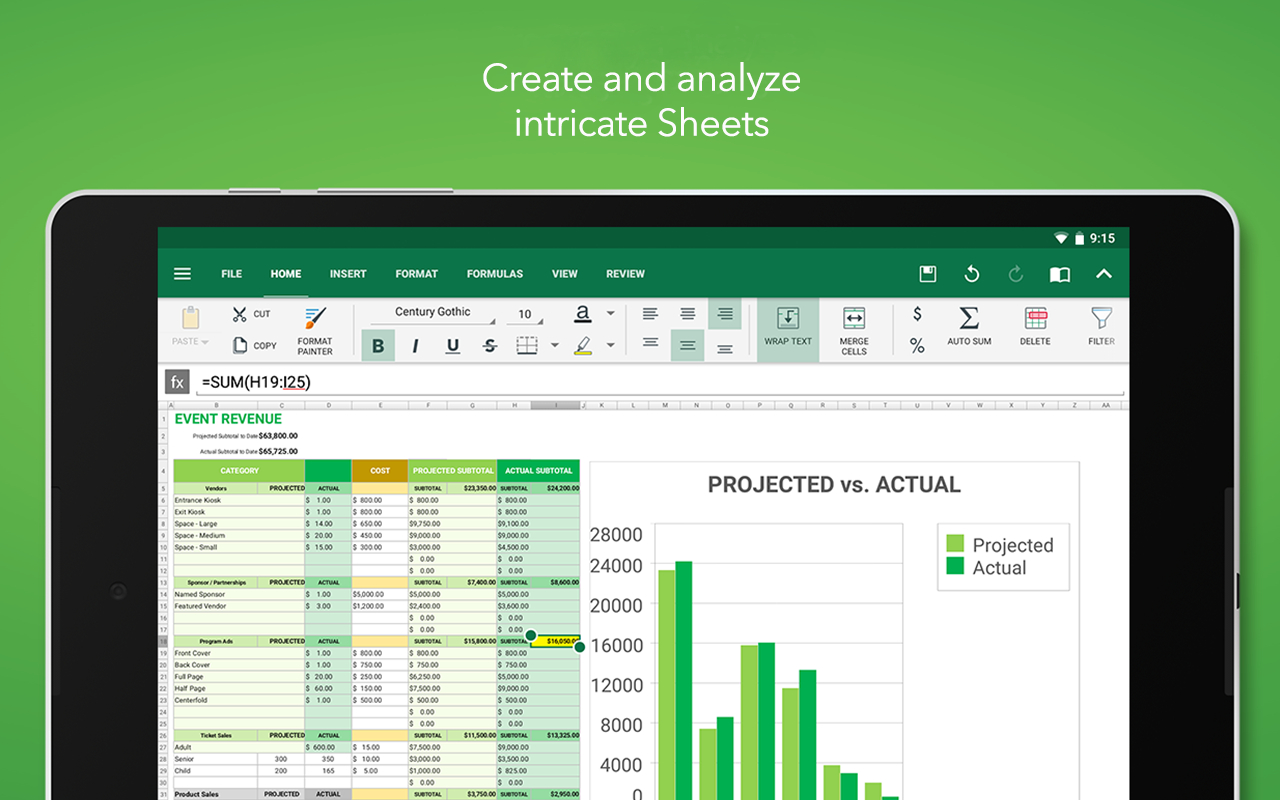 Amazon.com: Officesuite Free: Appstore For Android With Kindle Spreadsheet App