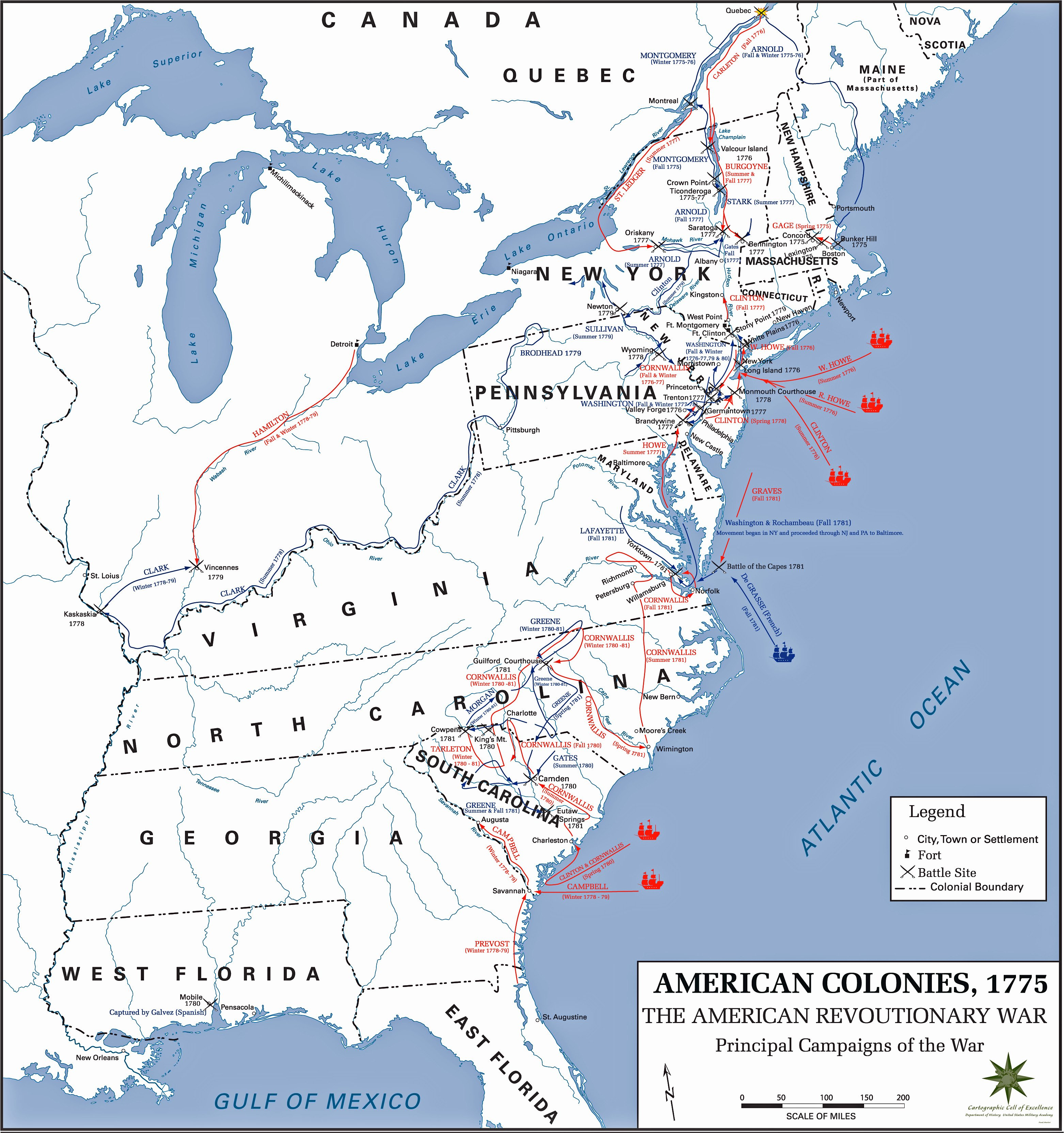American War Of Independence American Revolution 17751783 Throughout Revolutionary War Battles Map Worksheet