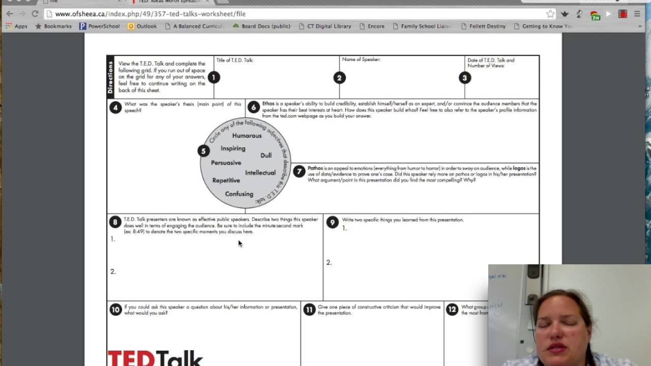 Analyzing Ted Talks Ted Talk Worksheet Big Perimeter Worksheets Also Ted Talk Worksheet Answers