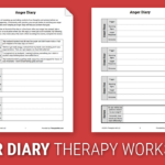 Anger Diary Worksheet  Therapist Aid For Anger Management Worksheets Pdf