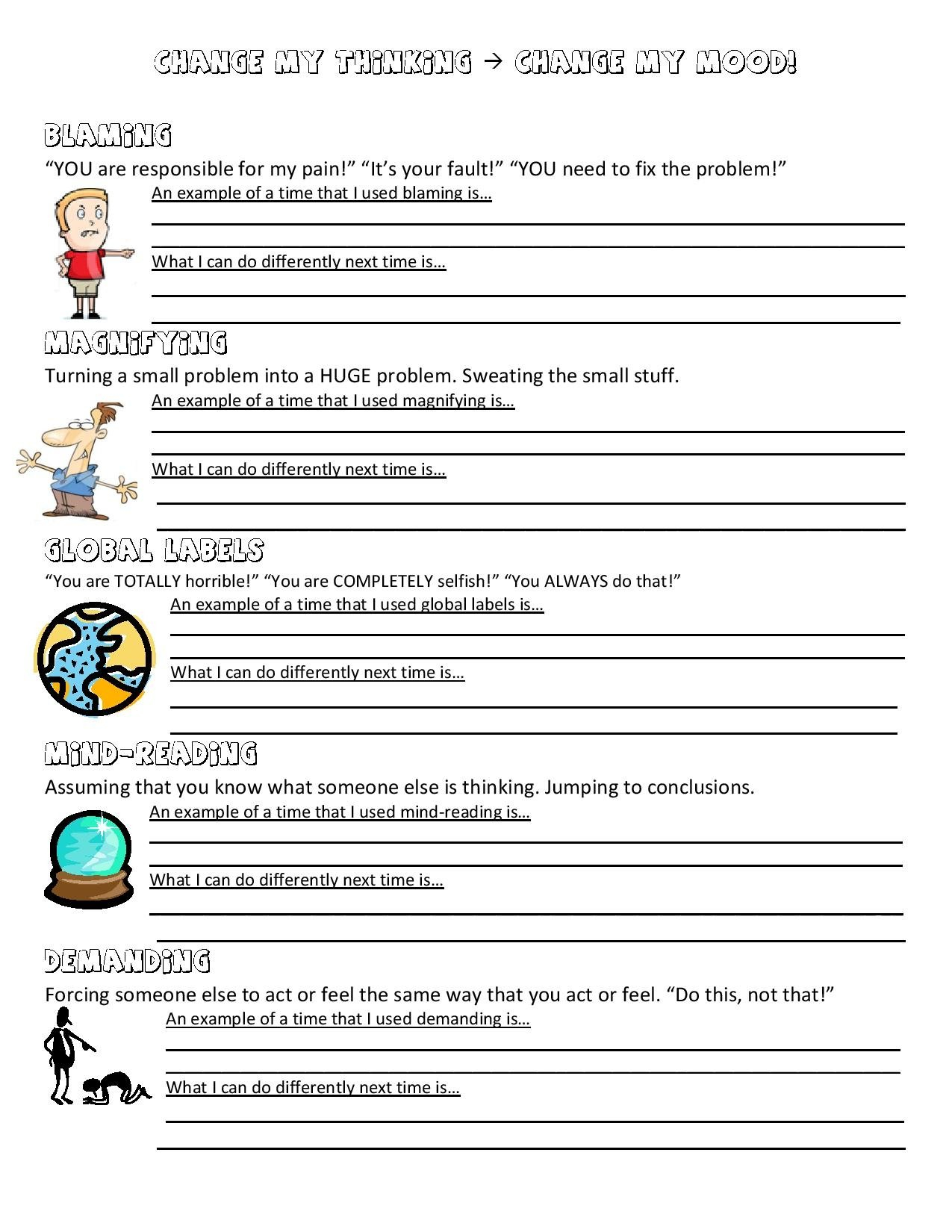 Anger Management Worksheet  Music City School Counselor Also Social Skills Worksheets For Middle School