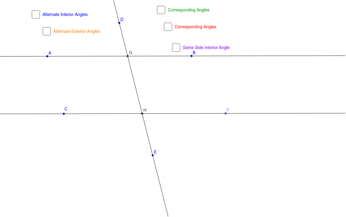 Angles Createdtwo Parallel Lines Cuta Transversal – Geogebra Along With Parallel Lines Cut By A Transversal Worksheet Answer Key