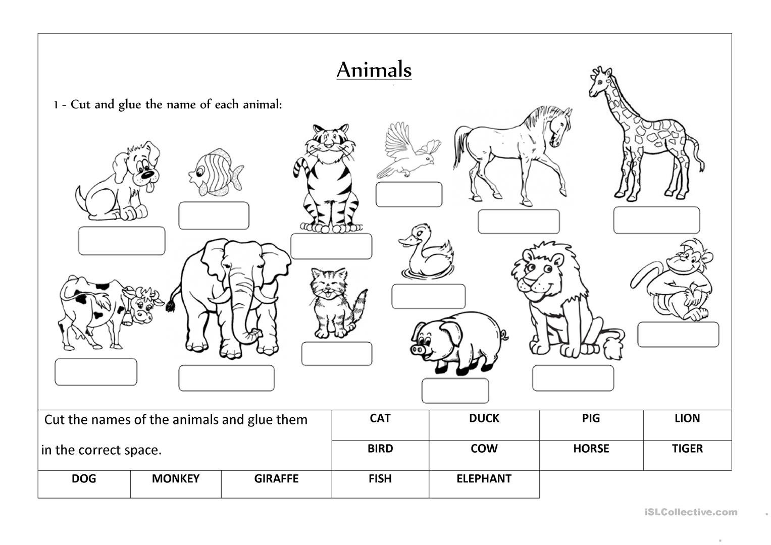 Animals Label And Classify Worksheet  Free Esl Printable Worksheets Within Animal Classification Worksheet Pdf
