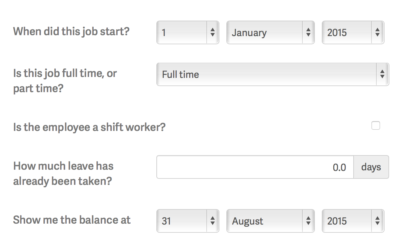 Annual Leave Calculator   Bindle Pertaining To Long Service Leave Calculation Spreadsheet