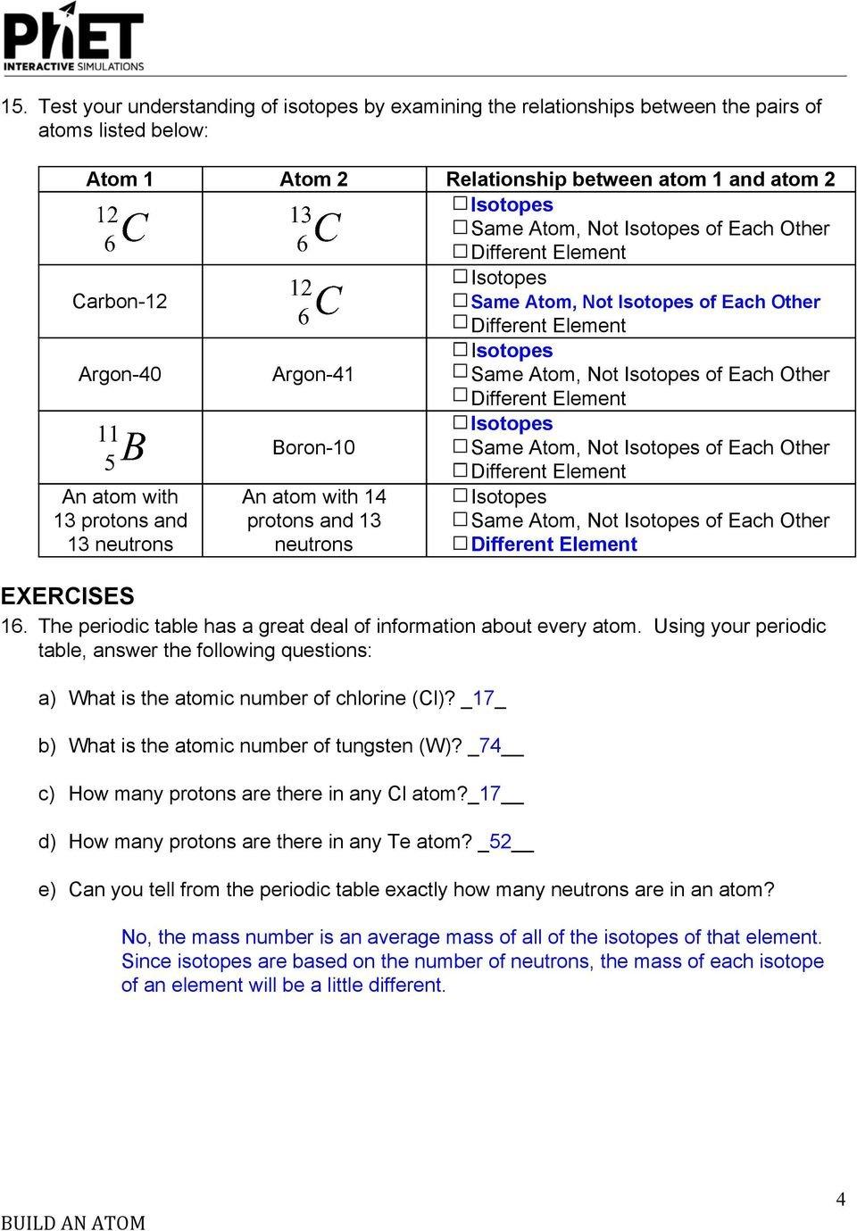 Phet Build An Atom Worksheet — excelguider.com