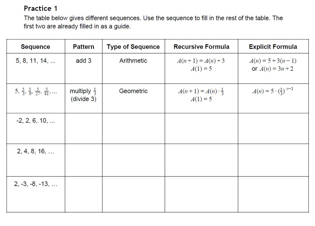 Arithmetic And Geometric Sequences Worksheet Free Printable Math Or Arithmetic Sequence Worksheet Pdf