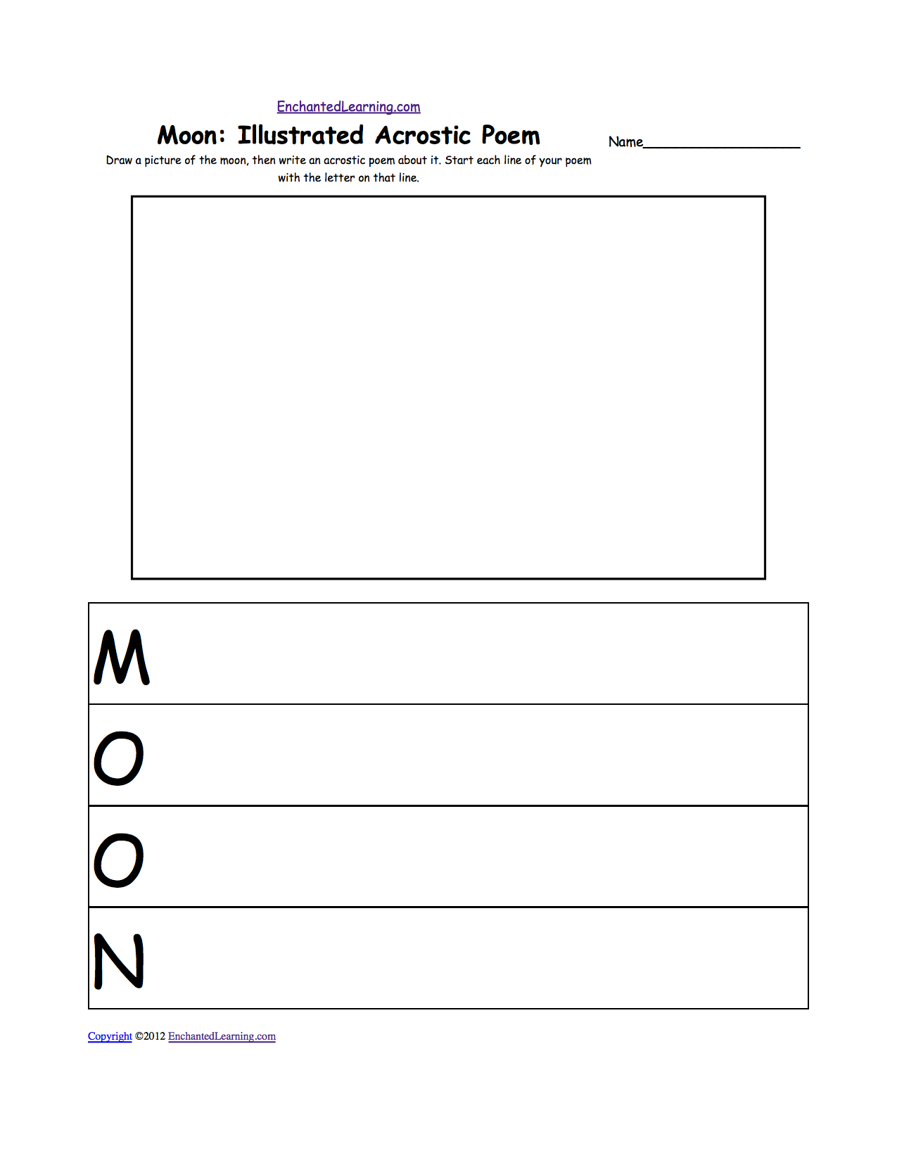 Astronomy And Space K3 Theme Page At Enchantedlearning Throughout Label The Planets Worksheet