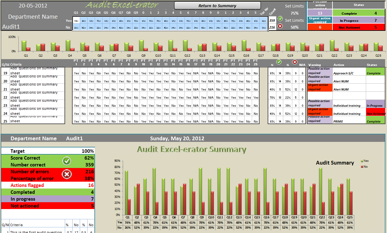 Audit Tool   Audit Excel Erator   Action Packed Audits   Online Pc ... As Well As Internal Audit Tracking Spreadsheet