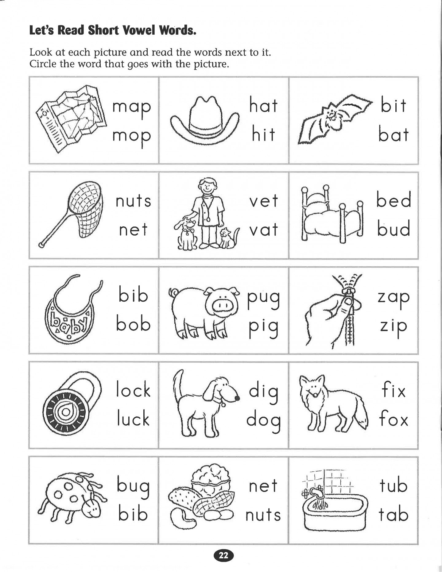 Awesome First Grade Vowel Worksheets – Enterjapan Regarding 1St Grade Phonics Worksheets