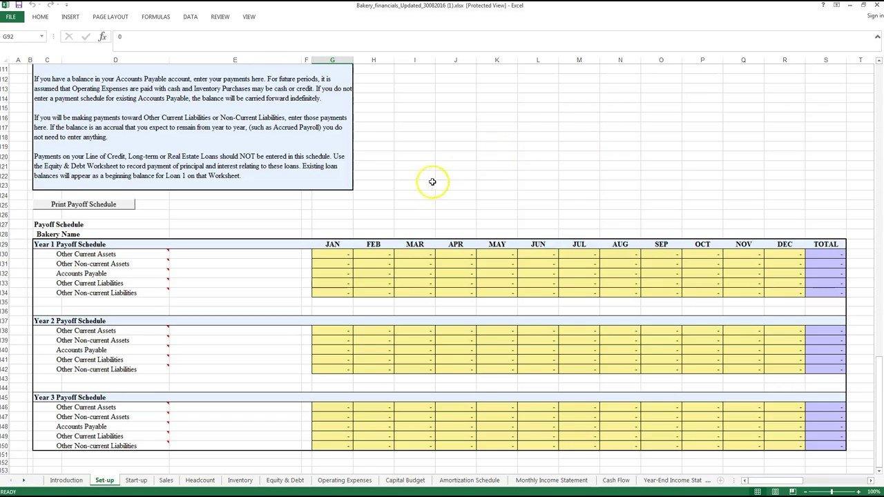 Bakery Excel Worksheet   Youtube Inside Bakery Expenses Spreadsheet