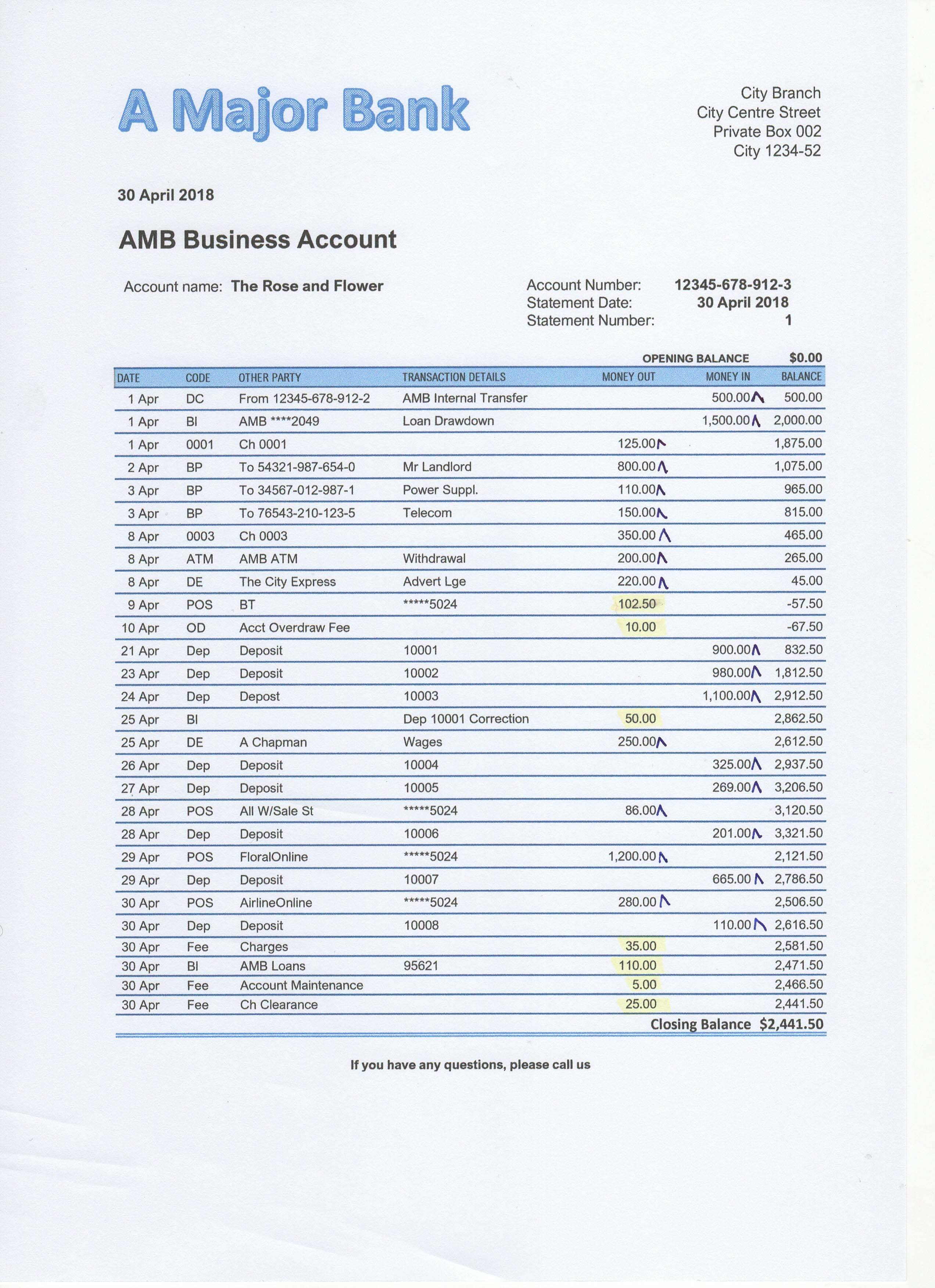 Bank Reconciliation Exercises And Answers Free Downloads With Checking Account Reconciliation Worksheet