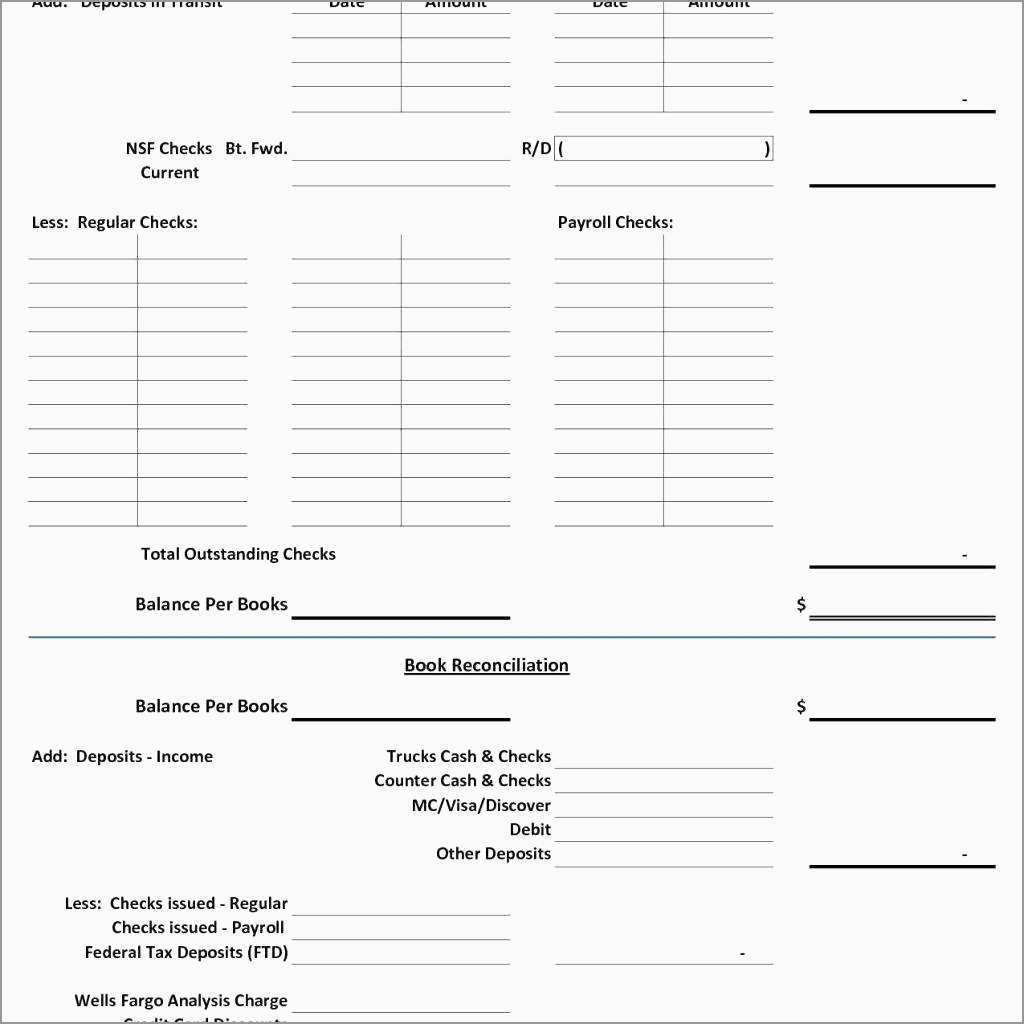 Bank Reconciliation Template Excel Free Download Astonishing Balance For Checking Account Reconciliation Worksheet