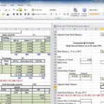 Bank Reconciliation Worksheet Excel Template Balance Sheet With Regard To Checking Account Reconciliation Worksheet