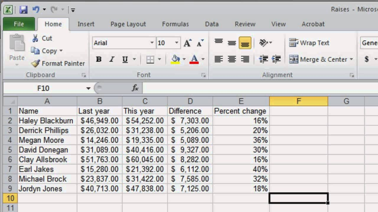Basic Spreadsheet Skills   Youtube Throughout Basic Spreadsheet Proficiency With Microsoft Excel