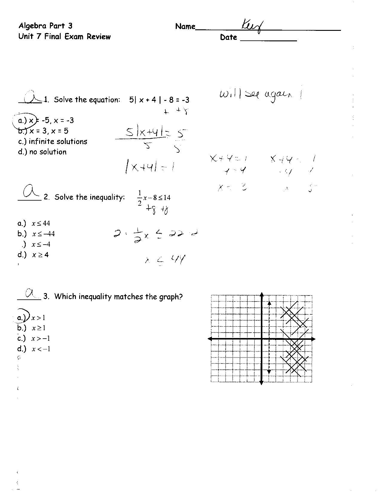 Best Solutions Of Algebra 2 Review Worksheets Choice Image Worksheet Intended For Linear Equations Review Worksheet