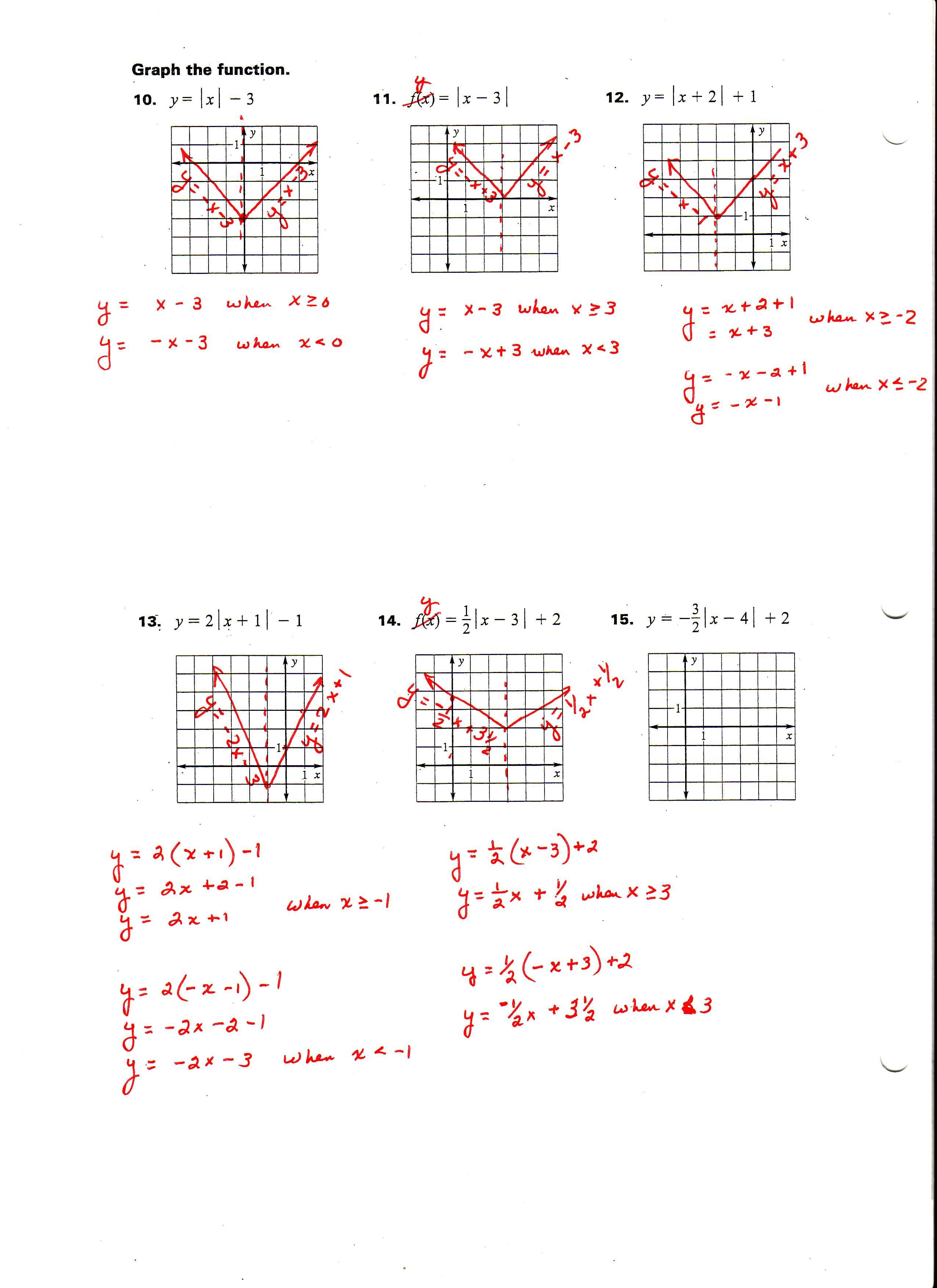 Best Solutions Of Graphing Absolute Value Inequalities Worksheet With Absolute Value Inequalities Worksheet Answers