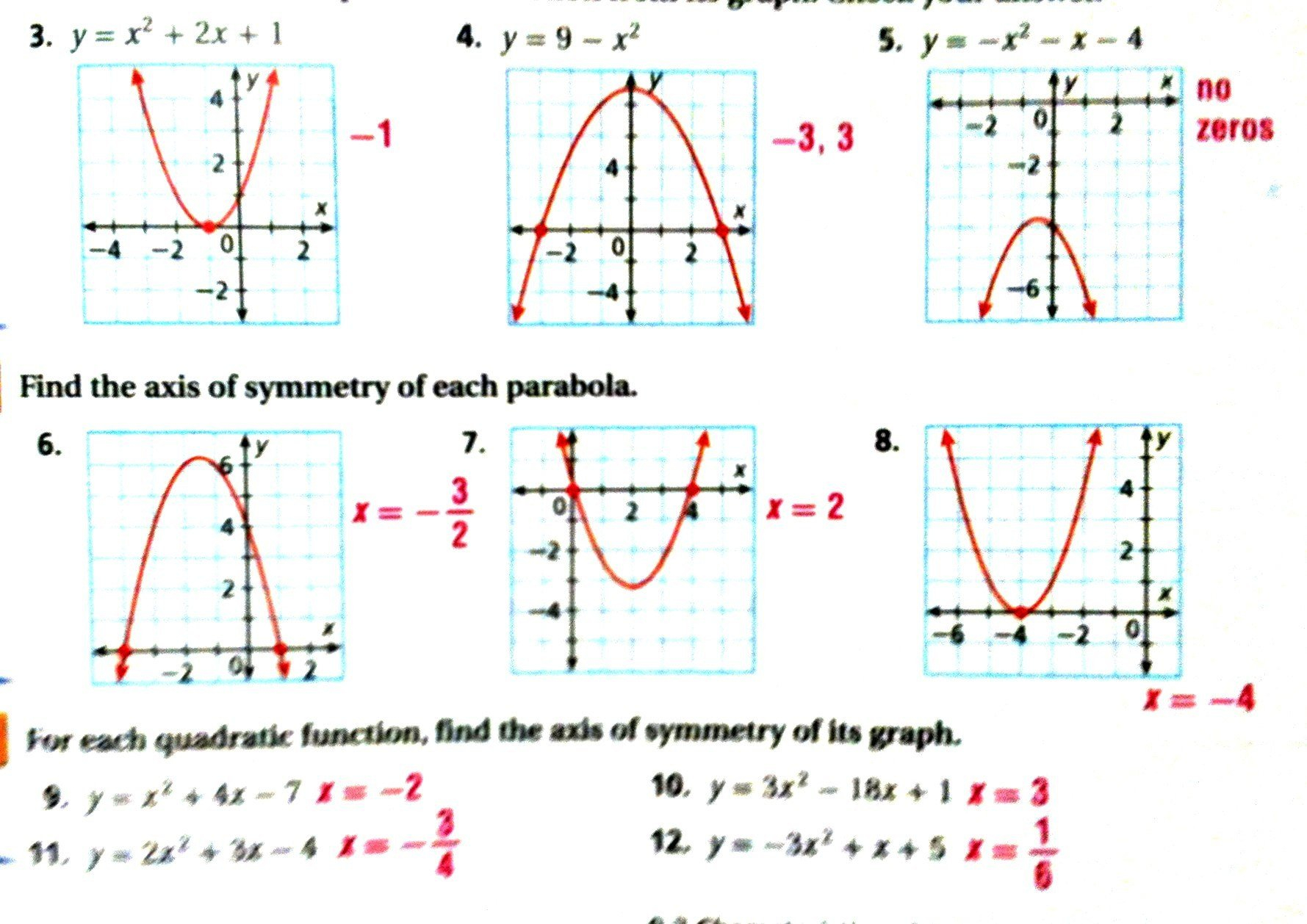 Best Solutions Of Graphing Parabola Worksheet Kidz Activities On Intended For Graphing A Parabola From Vertex Form Worksheet Answer Key