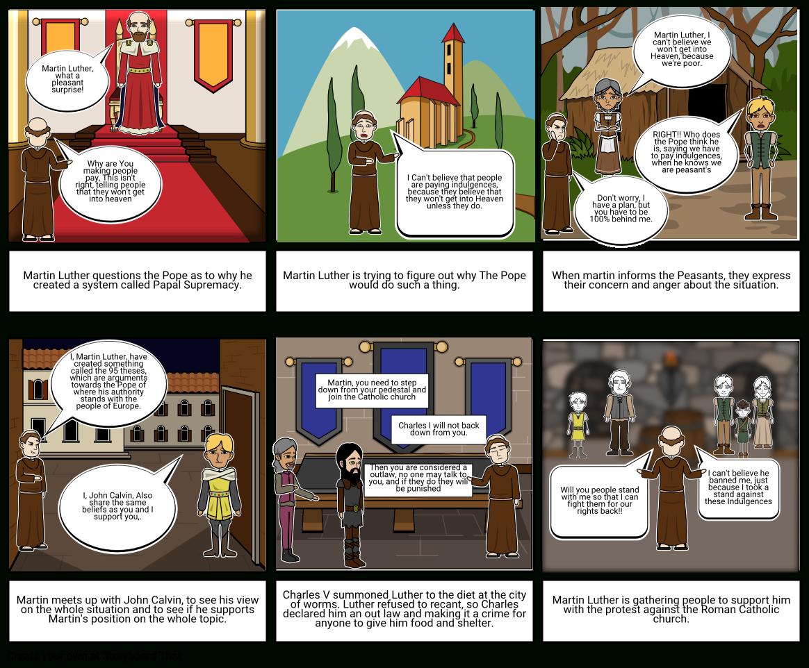 Better Version  Protestant Reformation Storyboard For Protestant Reformation Worksheet Pdf