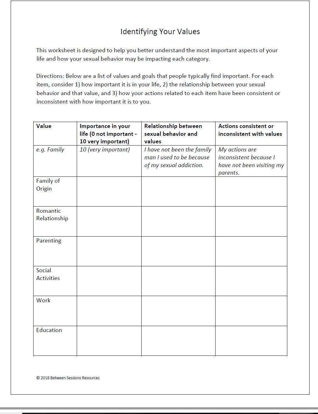 Between Sessions Addiction Therapy Worksheets  Addiction Recovery For Early Recovery Worksheets