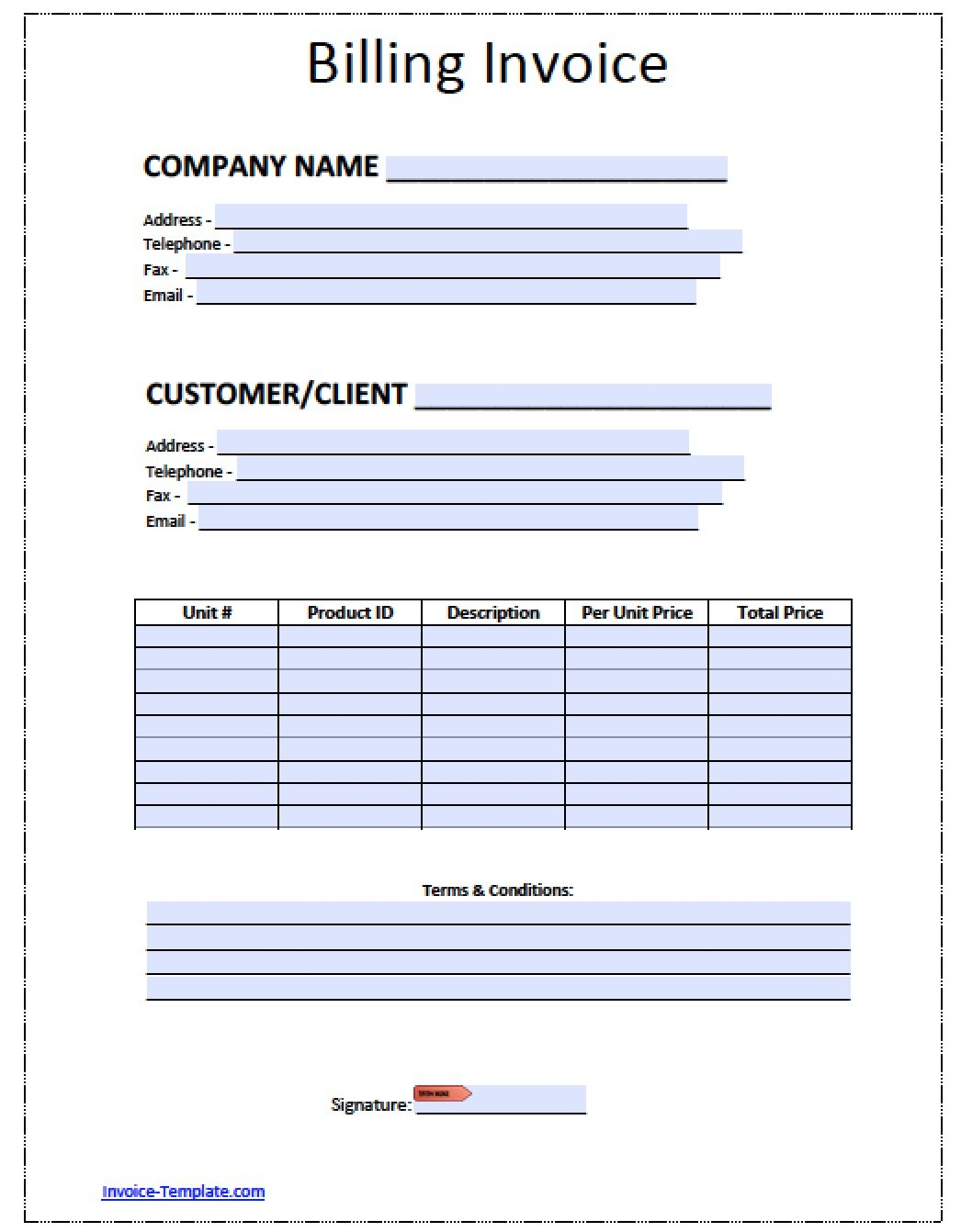 Bill Invoice Sample   Demir.iso Consulting.co And Billing Invoice Sample