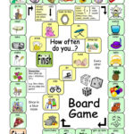 Board Game  How Often Worksheet  Free Esl Printable Worksheets Intended For Monopoly Game Worksheet