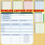 Bowling Captain Stat Keeper | Etsy Intended For Bowling League Spreadsheet