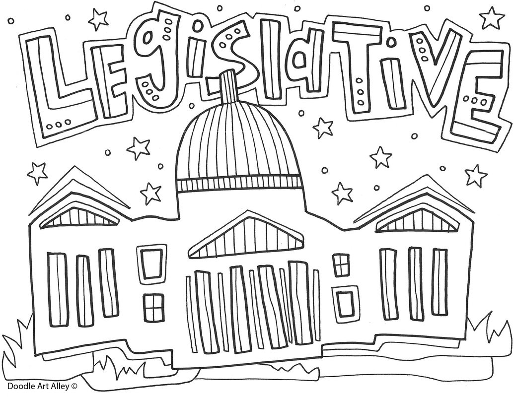 Branches Of Government Coloring Pages And Printables  Classroom Doodles As Well As Branches Of Government For Kids Worksheet