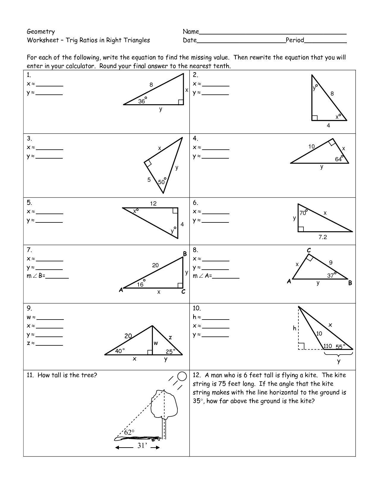 Brilliant Ideas Of Trigonometric Ratios Worksheet Answers Unique Intended For Trigonometric Ratios Worksheet