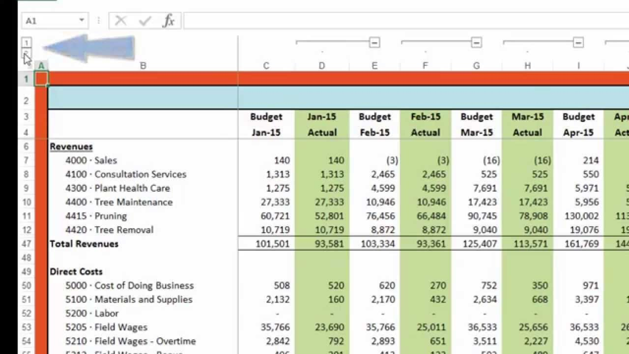 Budget Vs Actual   Youtube And Budget Vs Actual Spreadsheet