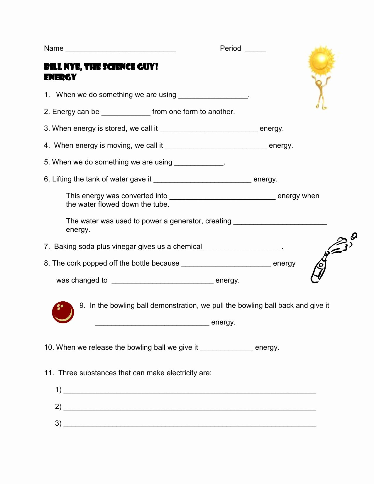 Bunch Ideas Of Bill Nye The Sun Worksheet The Best Worksheets Image Or Bill Nye Energy Worksheet Answers