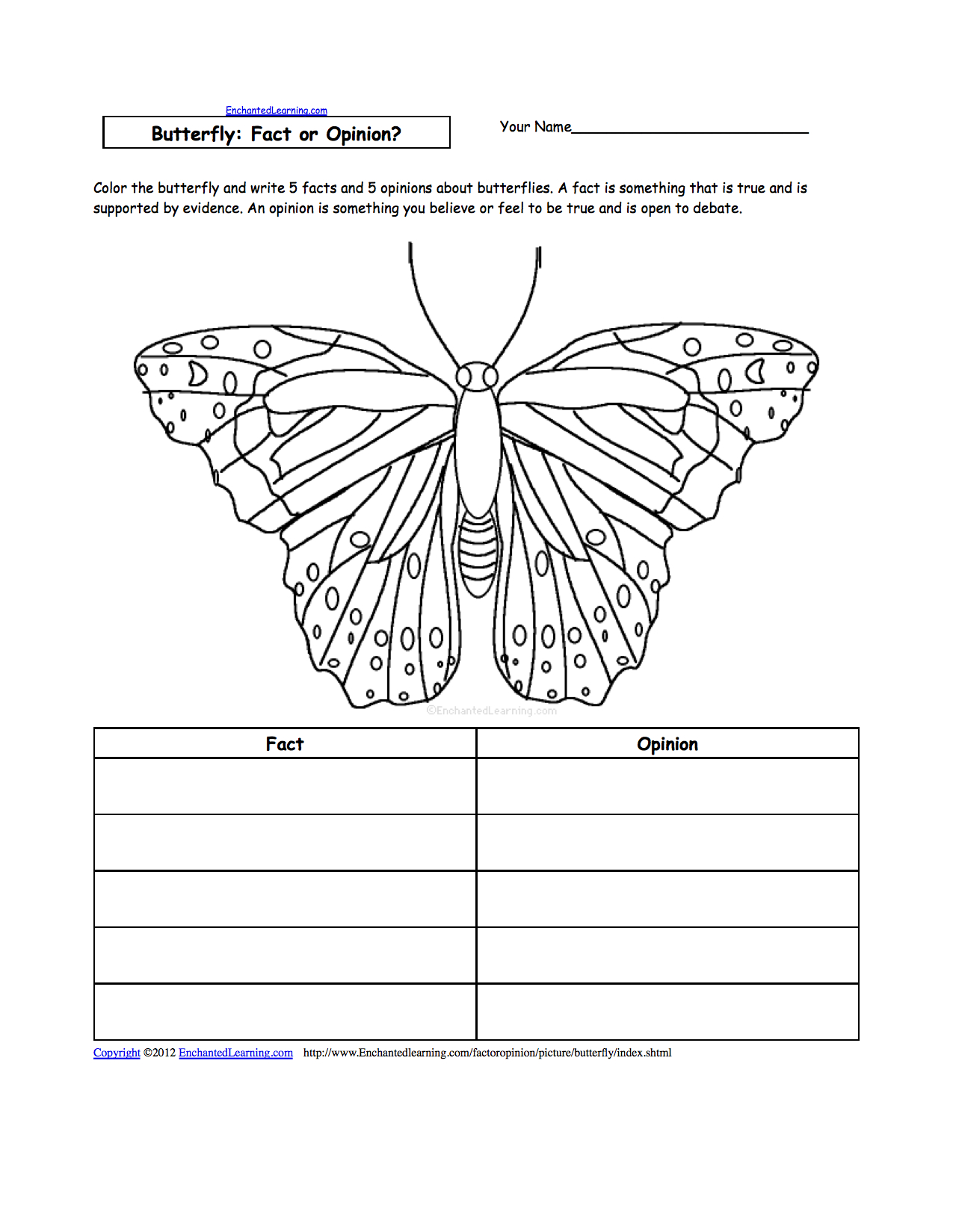 Butterfly Activities  Enchantedlearning With Regard To Monarch Butterfly Worksheets