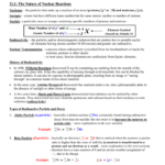 Chapter 21 Nuclear Chemistry Notes Answers For Nuclear Chemistry Worksheet Answer Key