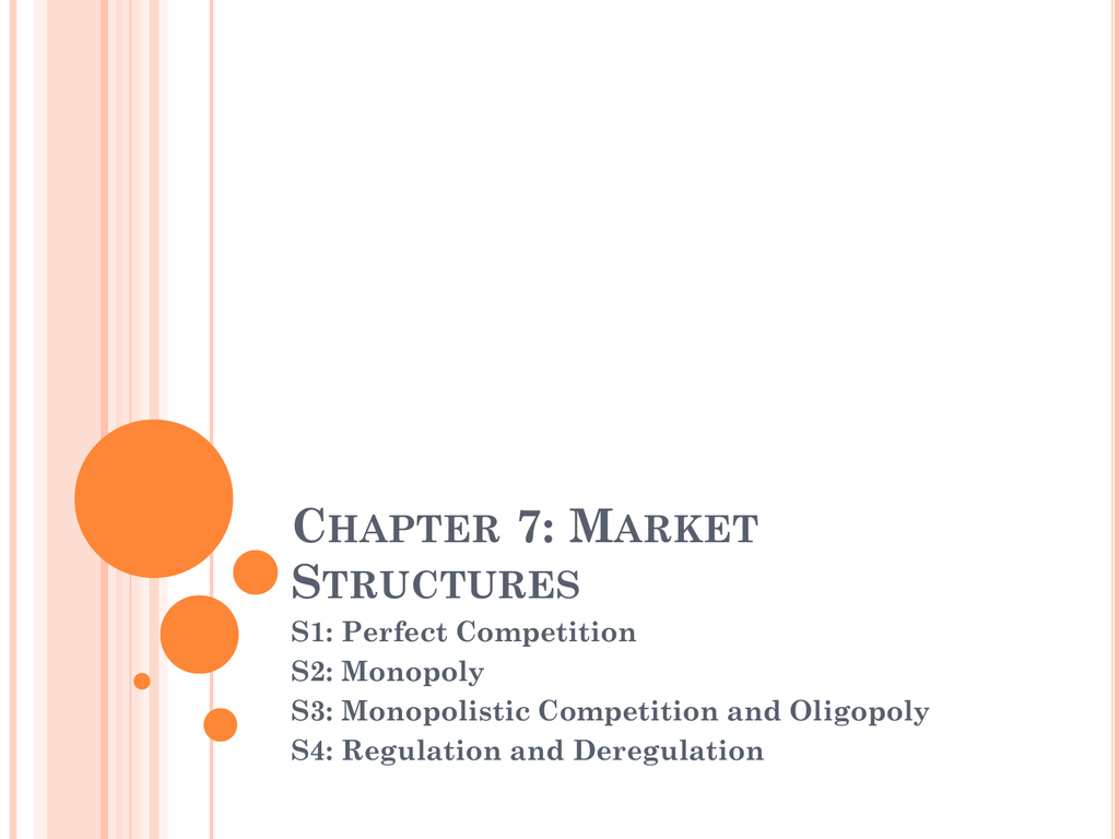 Chapter 7 Market Structures Intended For Chapter 7 Market Structures Worksheet Answers
