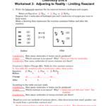 Chemistry Unit 8 Worksheet 3 Adjusting To Reality  Limiting Reactant Regarding Chemistry Unit 4 Worksheet 2