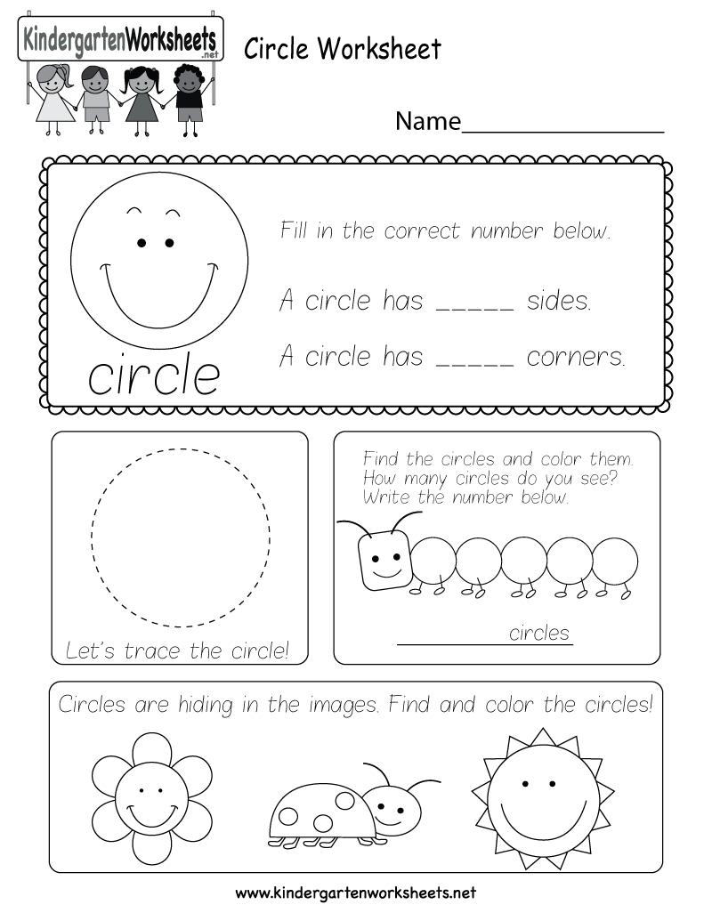 Circle Worksheet  Free Kindergarten Geometry Worksheet For Kids In Circle Geometry Worksheets
