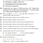 Class 6 Important Questions For Maths – Integers  Aglasem Schools For Integers Worksheets With Answers For Grade 6