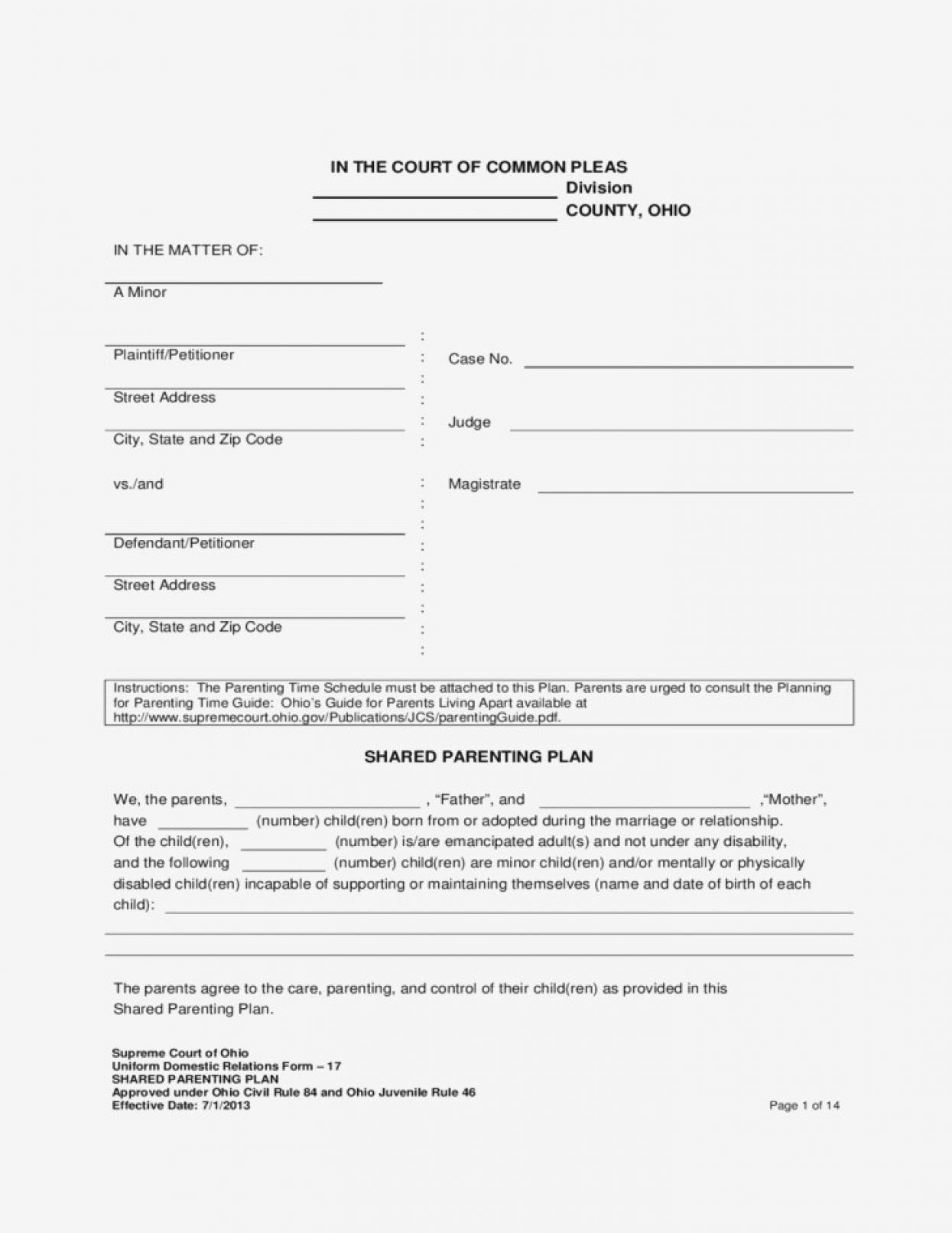Co Parenting Worksheets  Briefencounters With Parenting Plan Worksheet