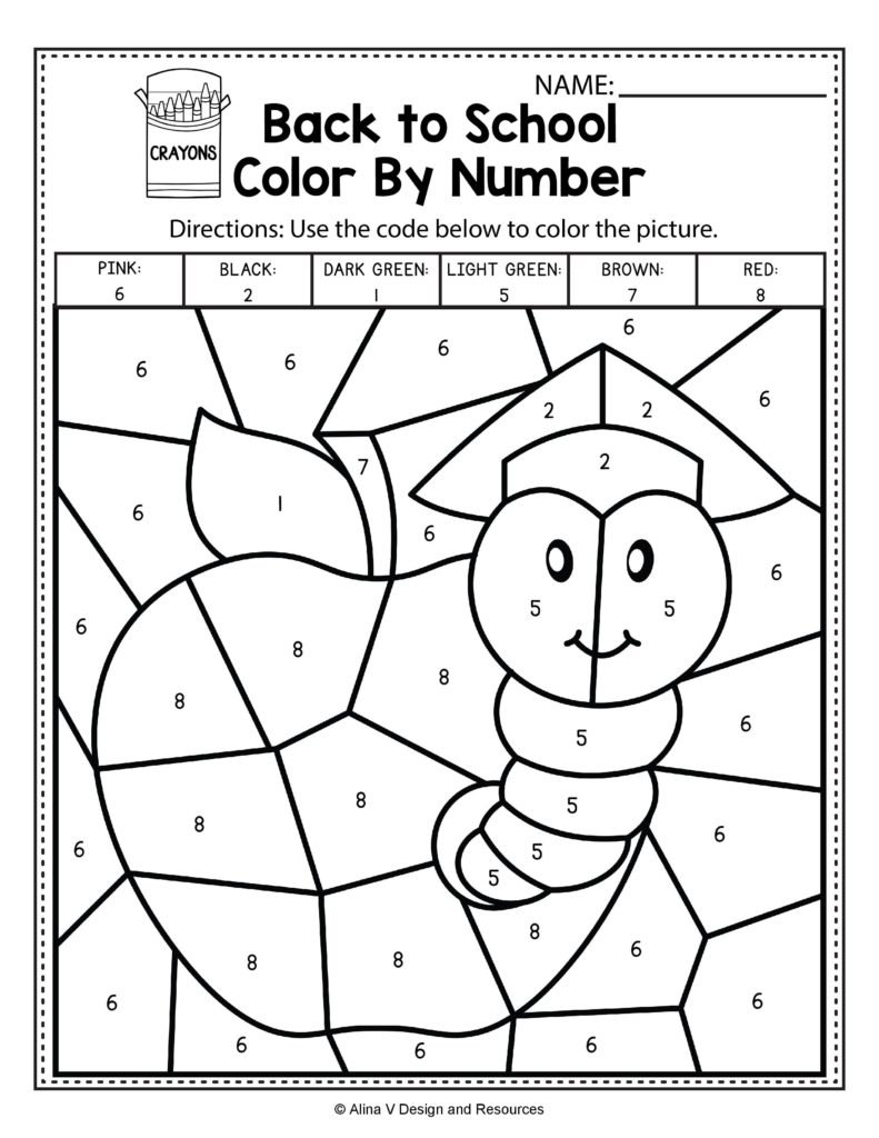 Coloring  Colornumber Math Worksheets For Middle School With Fun Math Worksheets For Middle School