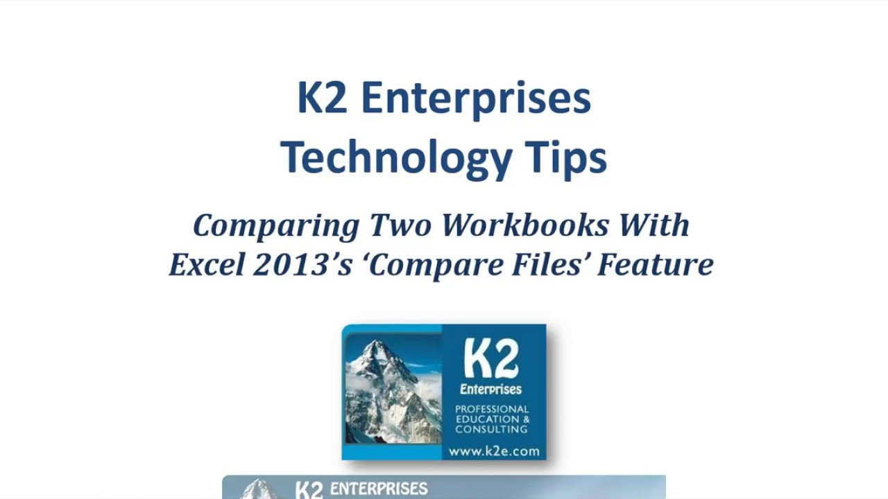 Comparing Two Workbooks With Excel 2013S Compare Files Feature   Youtube With Microsoft Spreadsheet Compare Download