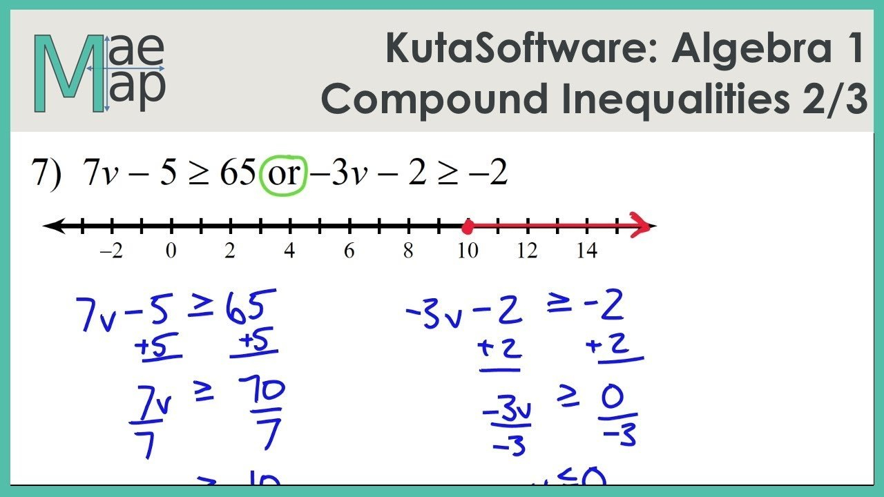 Compound Inequalities Worksheet Solving Systems Of Equations Inside Solve And Graph The Inequalities Worksheet Answers