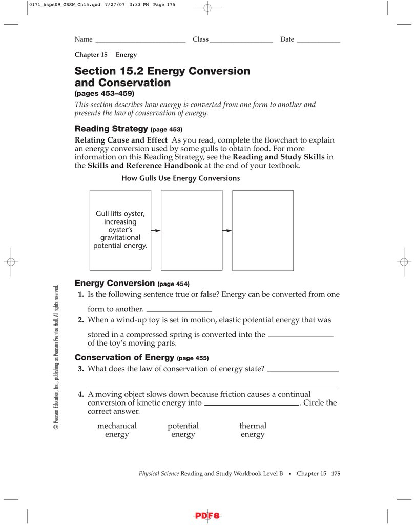Conservation Of Mechanical Energy Worksheet Doc 2 Answers Law Key And Energy Conversion And Conservation Worksheet Answers 5 2